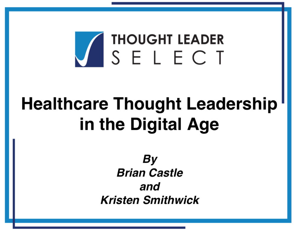 Thought Leadershiop in the Digital Age - title page